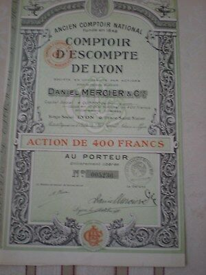Frankreich -  Compoir D´Escompte de Lyon  Daniel Mercier & Co. 3/79