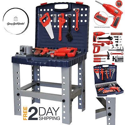 f5891c771 Kids Work Bench Tool Set Children Workbench Play DIY Tools Construction Toy  Kit