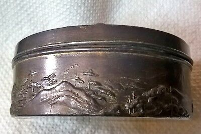 chinese bronze copper metal trinket box