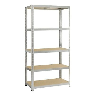 5 Tier Rack Garage Shelving Galvanised Heavy Duty Storage Racking Metal Shelves