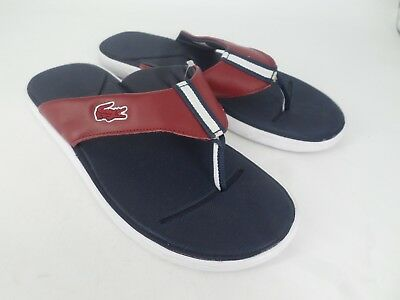 f8b71b0a10a0 LACOSTE MENS LEATHER Sandals   Sliders Uk Size 7  40.5 brown - EUR 7 ...