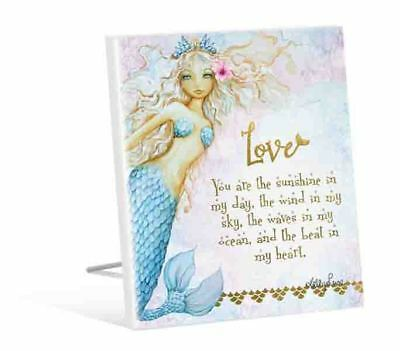 French Country Vintage Inspired Wooden MERMAID LOVE You Sunshine Sign New