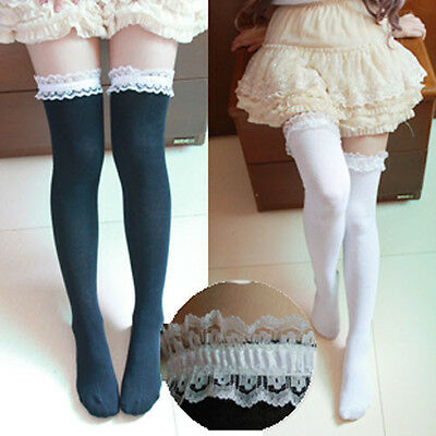 0397ee5bc59 Women Girl Cute Knit Lace Lolita Stocking Thighhigh Sock Cosplay Dance