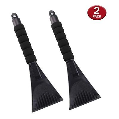2 Pack Snow Ice Scraper Removal for Car with Foam Handle,Heavy-duty Frost and Sn