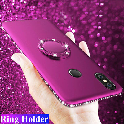 Bling Diamond Silicone Ring Holder Case Cover for Xiaomi A2/Redmi Note 5 5 Plus
