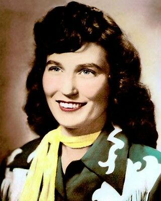 """LORETTA LYNN COUNTRY WESTERN SINGER SONGWRITER 8x10"""" HAND COLOR TINTED PHOTO"""