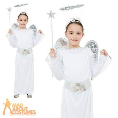 Child Angel Costume Christmas Nativity Gabriel Girls Kids Fancy Dress Outfit