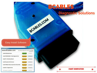 Bmw Diagnostic Software Cable Ediabas Inpa Dis Sss Obd Lead V44 V54 V57