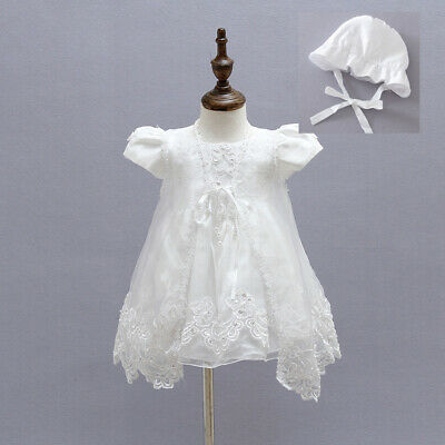 Ivory Beaded Christening Clothing Baby Embroidery Gown Baptism Dress with Cape