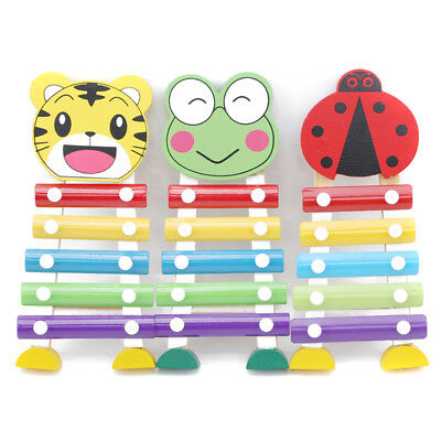 1 Pc Animal Wooden 5-Note Xylophone Musical Toy Wisdom Cute Education Toys New