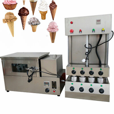Commercial Pizza Cone Forming Making Maker Machine w/ Rotational Pizza Oven Sale