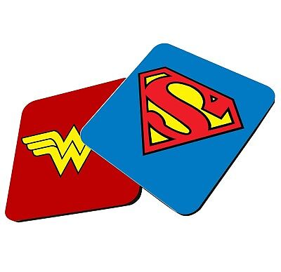 Superman Wonder Woman Justice League Couple Cup Coasters Dining Table Cork Board