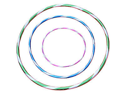 Multicolour Glitter Children Adult Hula Hoop Polypro Indoor Outdoor Fitness New
