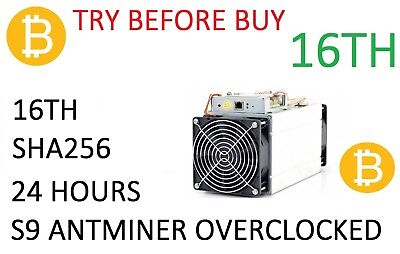 24 Hour, 16 Th/s Bitmain S9j Antminer Mining Contract for Bitcoin - SHA256