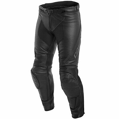 Dainese Motorbike Motorcycle Assen Leather Jeans - Black / Anthracite