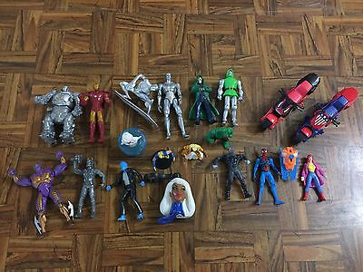 MARVEL Comics Mixed Lot 19 Loose Figures FF Novelties Cake Toppers Boy Toys GC