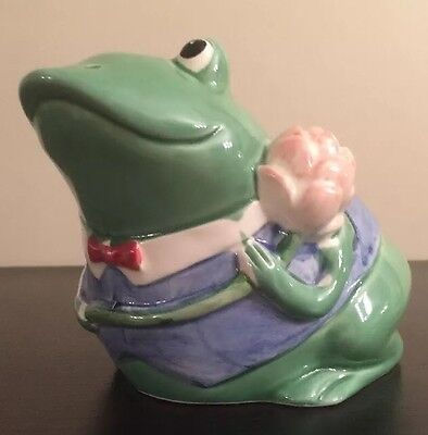 Vintage Otagiri Hand Painted Frog Bank Mary Ann Baker Design