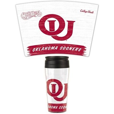 Oklahoma Sooners Official NCAA 16oz. Insulated Travel Mug by Wincraft 749673