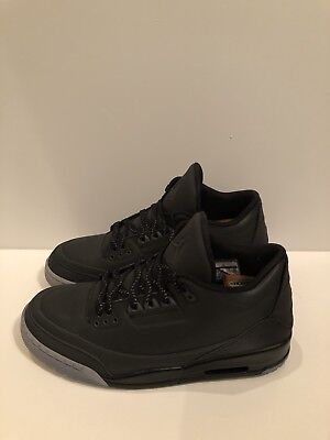 ec9a59b61257 Nike Air Jordan 3 5Lab3 Black 3M Size 11 (UNDER RETAIL!)