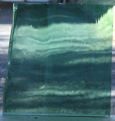 Vintage Hand Blown Antique Stained Glass Blue sheet  ,#1097