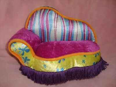"""2001 Groovy Girls Luscious Lounger couch sofa Furniture 9"""" long x 7"""" tall"""