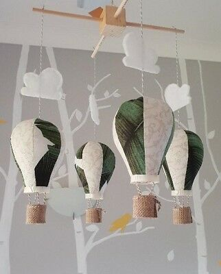 Hot Air Balloon - Room decor nursery baby mobile - 100% AUSTRALIAN handmade