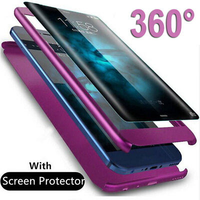 360° Full Protective Armor Case Cover for Samsung Galaxy A7 2018/J4 J6 Plus+Film