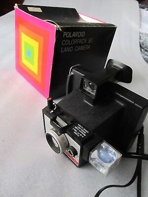 Vintage 1970s (1971-76) Instant film Polaroid, Colorpack 80 camera in Box