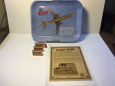 """RAW Rolling TRAY LARGE 13.5"""" X 11"""" Natural Way to Fly - Prepare For Flight"""