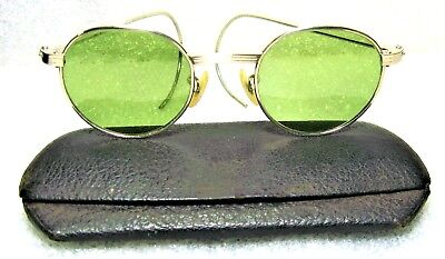 Vintage Ray-Ban USA 1940s WWII Bausch & Lomb RB-3 White Gold Sunglasses