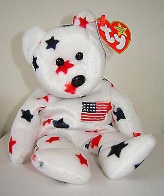 Ty Original Beanie Baby Collection Glory Usa Stars American Patriotic Bear