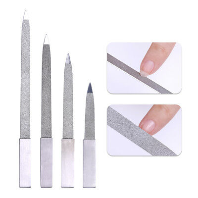 Nail Art File Buffer Stainless Steel Sanding Grinding Polishing Manicure Tools