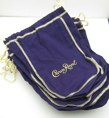 "Lot of 12 Crown Royal purple bags 9X6X3"" bags  FREE SHIPPING!"