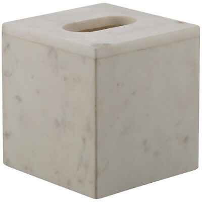 NEW White Marble Tissue Box Cover - Lifestyle Traders,Boxes & Baskets