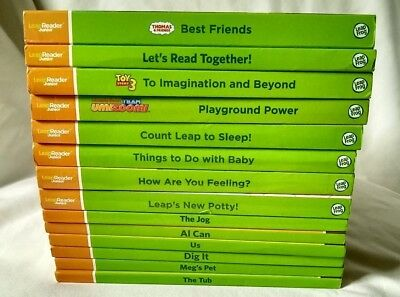 Sale! LeapFrog Tag Junior/Leap Reader Jr. 16 Books Vowels Toy Story Scout Leap