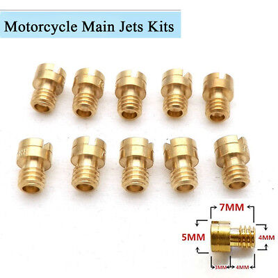 10Pcs 4MM Motorcycle Carburetor Main Jets Kit 82-105 Round Head for GY6 Keihin