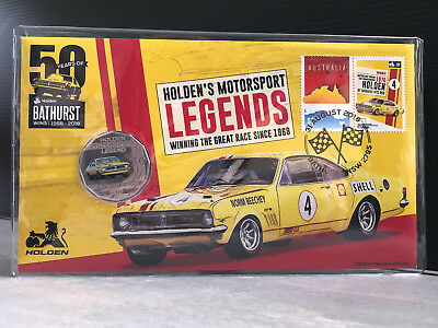 New Mint Uncirculated Holden 1970 HT Monaro GTS 50 Cent Coin PNC Limited to 7500