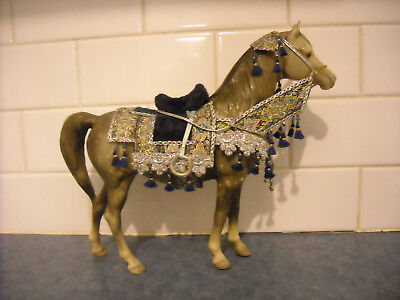 Vintage Breyer Proud Arabian Mare Dapple Grey Spectacular Arab Show Costume
