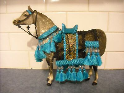 Vintage Breyer Proud Arabian Stallion Dapple Grey Spectacular Arab Show Costume