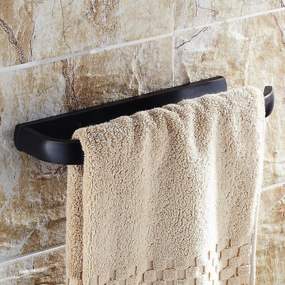 Classy Antique Black Brass Wall Mounted Towel Ring Bathroom Vintage Accessory