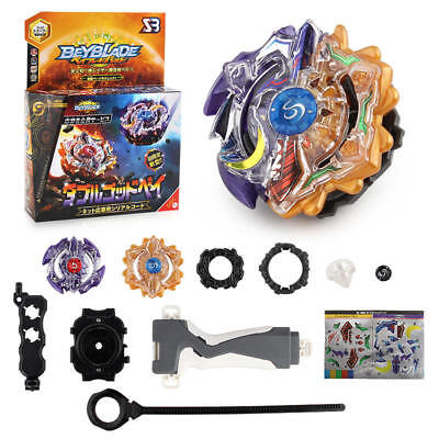 Hot Beyblade Burst B-00 DUO ECLIPSE SUN AND MOON - GOD BEY With Launcher Grip