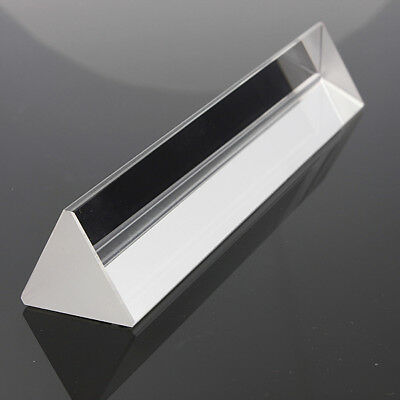 15cm Physics Optical Glass Triple Triangular Prism