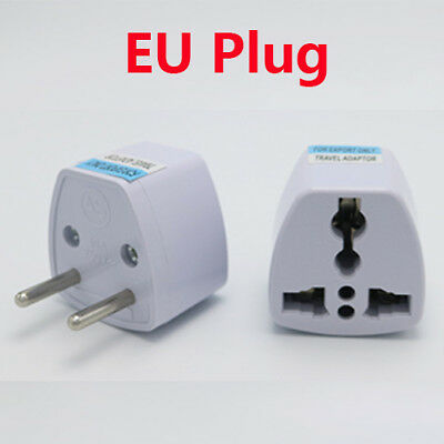 Portable UK US AU to EU European Power Socket Plug Adapter Travel Converter