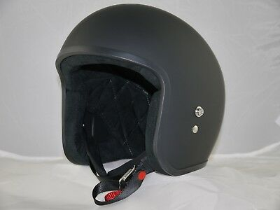 Lowest Profile Open Face Helmet Matt Australian Approved Harley Biker Bobber