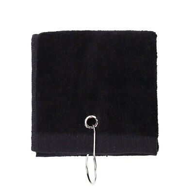 40x60cm Tri-Fold Cotton Comfortable Golf Towel With Hook Camping Muticolor