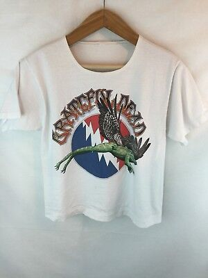 Vtg Grateful Dead Winged Frog Toad 1995 Tour Shirt Concert Band Tee Dates No Tag