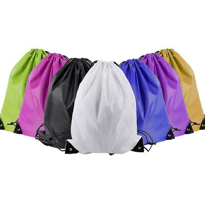 2x Gym Swim Shoes Backpack Nylon Drawstring Shoulder Bag Kids Party Gift Bag