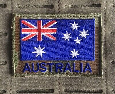 Australia, Australian Flag, ANF, Army, ADF, Auscam, DPCU, Military, Patch,Colour