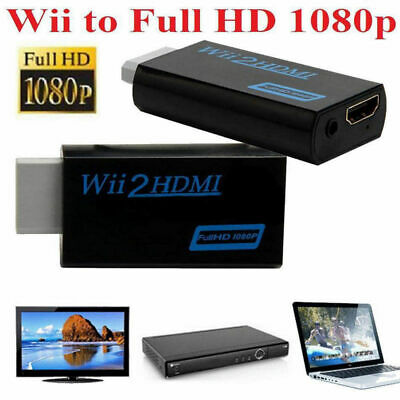 HD 1080P Wii auf HDMI Konverter Stick Upskaler mit 3.5mm Audio Output Adapter