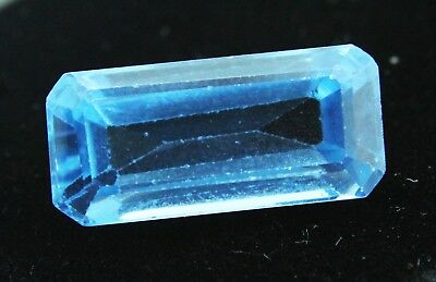 10.15 Ct Natural Emerald Cut Transparent Ocean Blue Aquamarine Gem GGL certified